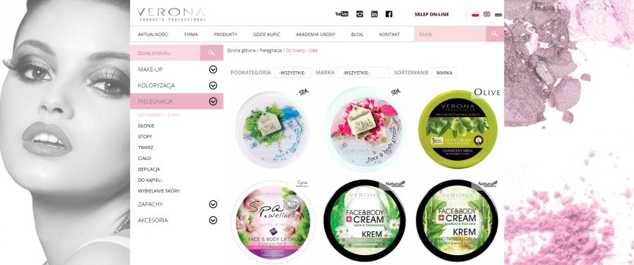 Verona products professional - producent kosmetyków do twarzy i ciała