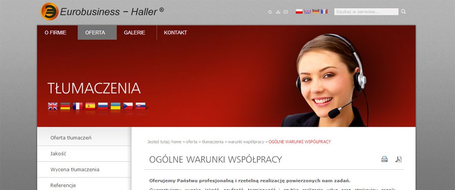 Eurobusiness Haller - tłumaczenia
