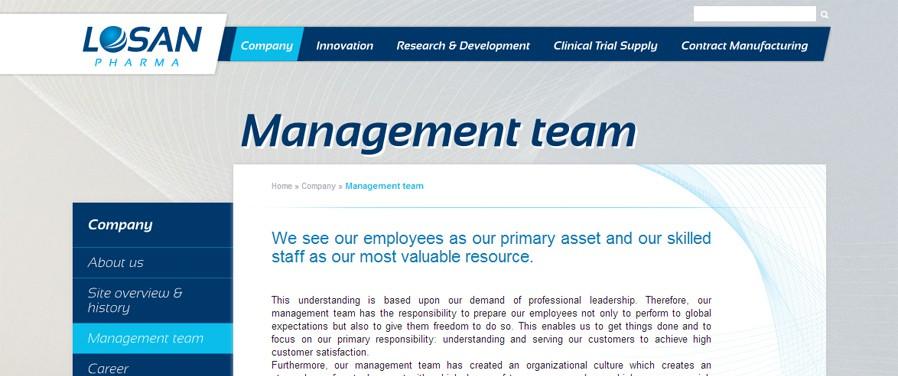 Losan Pharma - management team