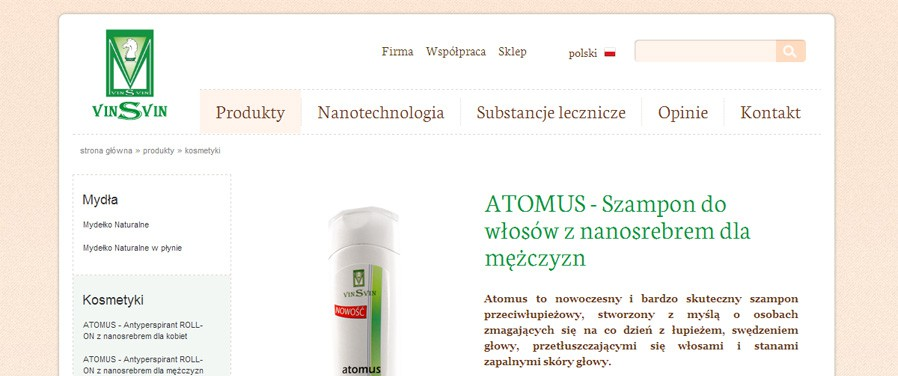 Vinsvin Sp. z  o. o. - strona produktu