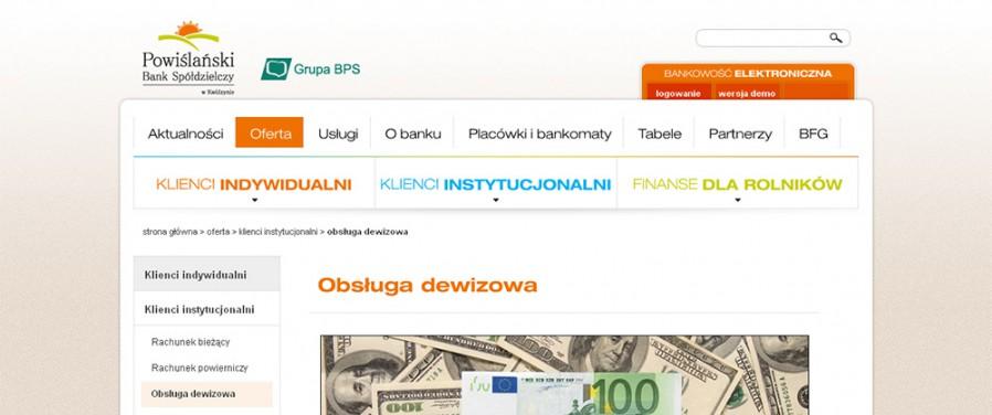 Powiślański Bank Spółdzielczy - Podstrona