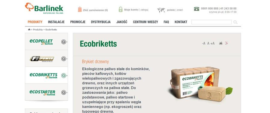 Barlinek SA - widok produktu
