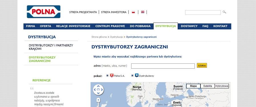 Polna SA - dystrybutorzy