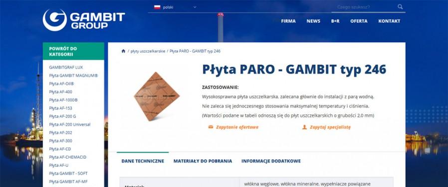Gambit Lubawka Sp. z o.o. - karta produktu