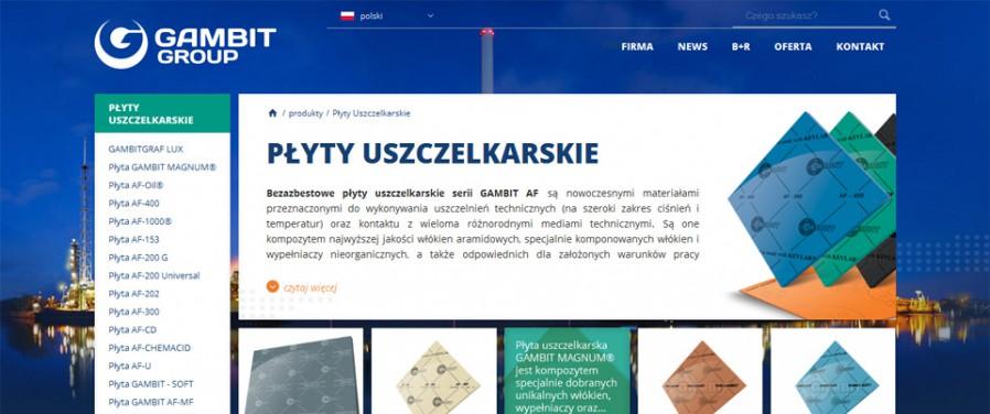 Gambit Lubawka Sp. z o.o. - lista produktów