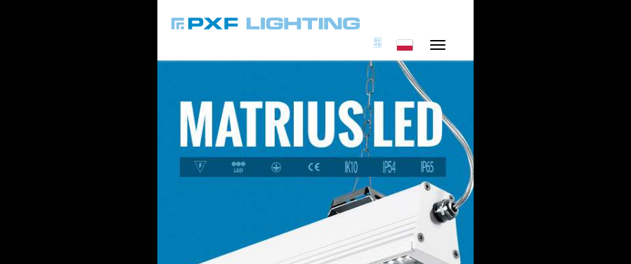 PXF Lighting - RWD Responsive Web Design