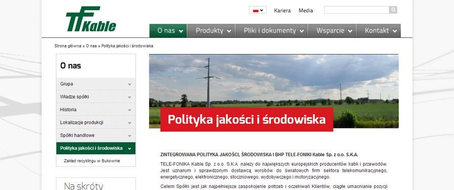 TELE-FONIKA Kable Sp. z o.o. - podstrona