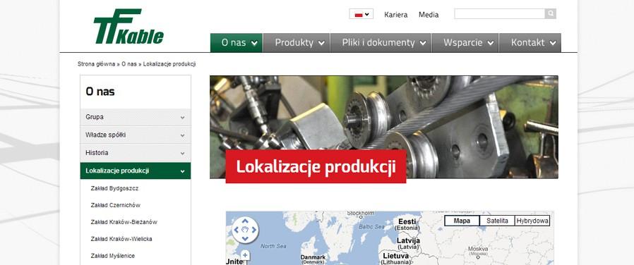 TELE-FONIKA Kable Sp. z o.o. - lokalizacje produkcji