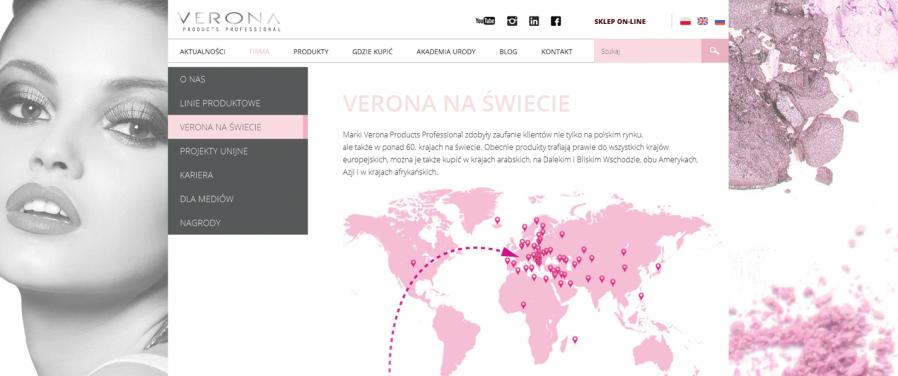 Verona na świecie - producent kosmetyków