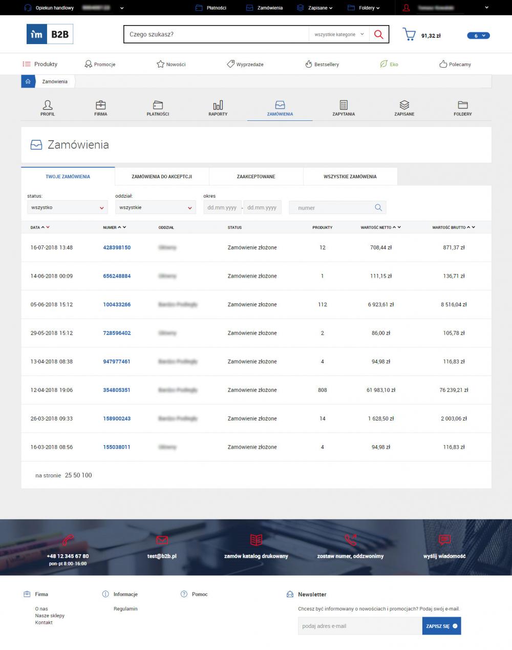 Integracja B2B z Comarch ERP XL